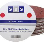 Lot de 120 disques abrasifs diamètre 125 mm grain 20 x 40/60/80/120/180/240 pour ponceuse excentrique de la marque SBS image 1 produit