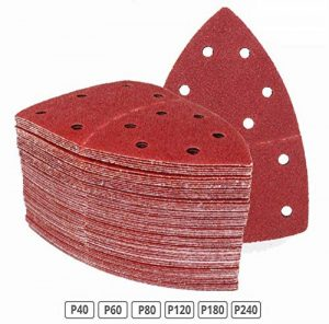 Lot de 120 feuilles abrasives 105 x 152 mm Grain 20 x 40/60/80/120/180/240 pour ponceuse multifonction de la marque FD-Workstuff image 0 produit