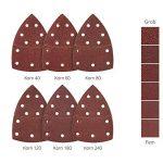 Lot de 120 feuilles abrasives 105 x 152 mm Grain 20 x 40/60/80/120/180/240 pour ponceuse multifonction de la marque FD-Workstuff image 1 produit