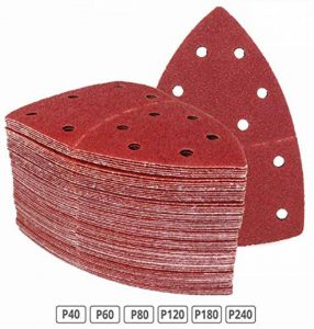 Lot de 180 feuilles abrasives 105 x 152 mm Grain 30 x 40/60/80/120/180/240 pour ponceuse multifonction triangles abrasifs de la marque FD-Workstuff image 0 produit