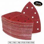 Lot de 180 feuilles abrasives 105 x 152 mm Grain 30 x 40/60/80/120/180/240 pour ponceuse multifonction triangles abrasifs de la marque FD-Workstuff image 3 produit