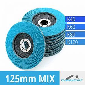 Lot de 20disques Inox compartiments Mix Pack (4x 5) 125mm Grain mélangées par 5x 40/60/80/120/Inox à lamelles ponçage Mop économie d'assiette Pack de la marque FD-Workstuff image 0 produit
