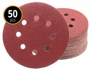 Lot de 50 disques abrasifs Ø 125 mm - Grain 150 pour ponceuse excentrique de 8 trous de la marque FD-Workstuff image 0 produit