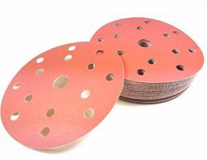 Lot de 50 disques abrasifs Craft-Equip rouge velcro pour ponceuse excentrique, 150 mm, 15 trous à grain, P36 jusqu'à P2000 de la marque Craft-Equip image 0 produit