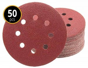 Lot de 50 disques abrasifs Papier abrasif Ø 125 mm grain 80, de détention Ponceuse excentrique de 8 trous de la marque FD-Workstuff image 0 produit