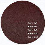 Lot de 50 disques abrasifs Velcro Ø 225 mm sans trou – Lot de 10 x corn 40/60/80/120/180/ponceuse à long manche/ramequin de la marque S&S-Shop image 4 produit