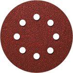 Lot de 50 disques velcro Ø 115 mm 8 trous Grain 600 Velcro pour ponceuse excentrique Disque abrasif Velcro Fixation par ex. pour AEG, Black&Decker, Bosch, Einhell, Kress de la marque Hobbypower24 image 2 produit