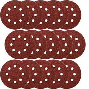 Lot de 50 disques velcro Ø 115 mm 8 trous Grain 600 Velcro pour ponceuse excentrique Disque abrasif Velcro Fixation par ex. pour AEG, Black&Decker, Bosch, Einhell, Kress de la marque Hobbypower24 image 0 produit