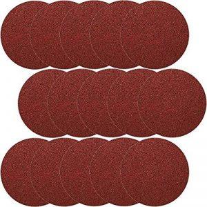 Lot de 50 disques velcro de 150 mm de diamètre sans trou grain 100 Velcro pour ponceuse excentrique de la marque Hobbypower24 image 0 produit