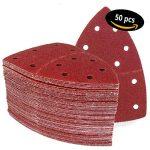 Lot de 50 feuilles abrasives 105 x 152 mm Grain 80 pour Ponceuse multifonction de la marque FD-Workstuff image 3 produit