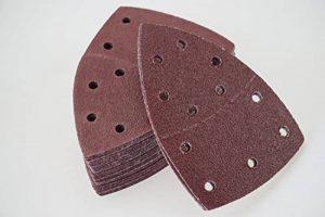 Lot de 50 feuilles de papier abrasif pour ponceuse multifonction - 105 x 152 mm - Grain 240/Feuilles abrasives de la marque S&S-Shop image 0 produit