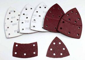 Lot de 50 feuilles de papier abrasif Prio (Velcro/Haft System) Grain 40/partiel/Papier abrasif/Feuilles abrasives/Papier abrasif de la marque BoH-Warenhandel image 0 produit