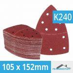 Lot de 50 I Bande de 105 x 152 mm grain 240 pour Ponceuse multifonction 11 trous feuilles abrasives de la marque FD-Workstuff image 2 produit