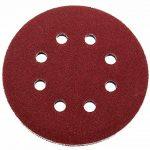 Lot de 60 disques abrasifs Ø 125 mm - Grain Assortiment: 10 x 40/60/80/120/180/240 pour ponceuse excentrique de 8 trous Disques papier abrasif de la marque FD-Workstuff image 1 produit