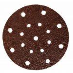 Lot de 60 disques abrasifs de 150 mm de diamètre I avec grain 10 x 40/60/80/120/180/240 papier abrasif pour ponceuse excentrique 17 trous de la marque FD-Workstuff image 1 produit