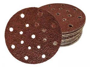 Lot de 60 disques abrasifs de 150 mm de diamètre I avec grain 10 x 40/60/80/120/180/240 papier abrasif pour ponceuse excentrique 17 trous de la marque FD-Workstuff image 0 produit