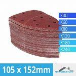 Lot de 60 feuilles abrasives 105 x 152 mm Grain 10 x 40/60/80/120/180/240 pour ponceuse multifonction Prio de la marque FD-Workstuff image 1 produit