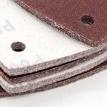 Lot de 60 feuilles abrasives 105 x 152 mm, grain : 10 x grain 40/60/80/120/180/240 pour bosch-prio-ponceuse pneumatique de la marque FD-Workstuff image 1 produit
