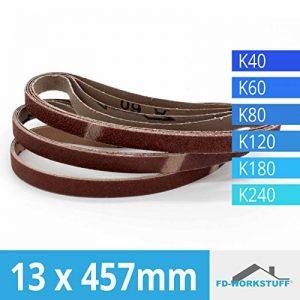 Lot de 96 bandes abrasives pour 13 x 457 Grain 16 x 40/60/80/120/180/240 pour Black & Decker de la marque FD-Workstuff image 0 produit