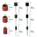 Majome 132Pcs Ponçage Manches abrasifs cylindres Grain 80avec mandrins Drum Kit de Ponçage de la marque Majome image 3 produit