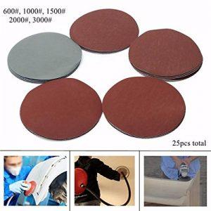 Multitool Outils Multi Accessoires Disques abrasifs, 25pcs 600-3000 grains 6 pouces disques abrasifs papier abrasif de la marque EEvER image 0 produit