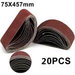 MultiWare Ponceuse À Bande Bande Abrasive 75x533cm Grain 40 60 80 120 de la marque MultiWare image 1 produit