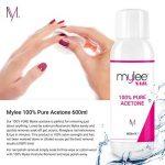 Mylee Acétone 100 % Pure Dissolvant Pour Ongles De haute qualité pour UV / LED Gel (600ml) de la marque MYLEE image 3 produit