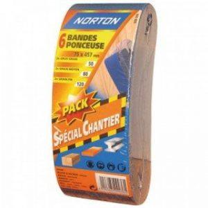 Norton Lot de 6 Bandes 75 x 457 mm Grain assortis de la marque Norton image 0 produit