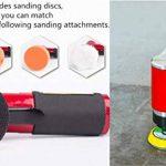 Nouvelle ponceuse / polisseuse d'angle de pression d'air de ponceuse orbitale de haute performance Mini rouge droit long + tampon de ponçage de 50mm et de 75mm de la marque ZHONG AN image 3 produit