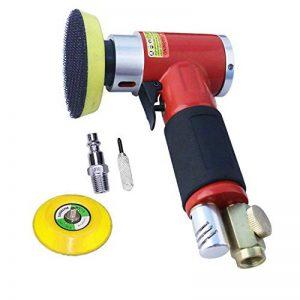 Nouvelle ponceuse / polisseuse d'angle de pression d'air de ponceuse orbitale de haute performance Mini rouge droit long + tampon de ponçage de 50mm et de 75mm de la marque ZHONG AN image 0 produit