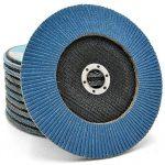 NOVOABRASIVE Lot de 10 Disques 180mm, Grain 60 de ponçage à lamelles en inox, disques de ponçage à stries de la marque NOVOABRASIVE image 2 produit