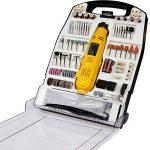 Outil Rotatif Electrique Multi-usage I Coffret - 243 Pièces 135 W I Mini-Ponceuse Rotatif multifonction, accessoires, polissage de la marque TIMBERTECH image 1 produit