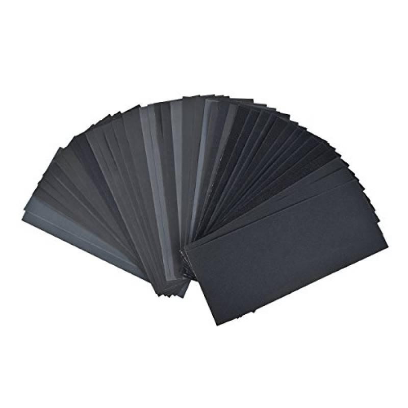 Lot de 45 Papier de Verre Gyvazla Papier Sec à l/'Eau 120 150 180 240 320 360 4