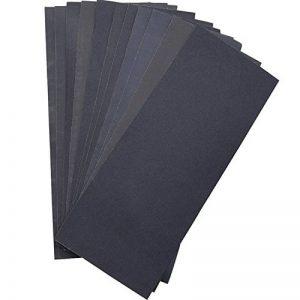 Papier de Verre , Sec / umide, Grain de 400/ 600/ 800/ 1000/ 1200/ 1500 pour Meubles, Loisirs et Home Improvement, 12 Pièces de la marque LANHU image 0 produit