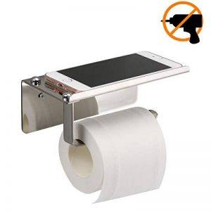 Porte-papier Toilette,Porte-papier Hygiénique Support Mural Sans Perçage, Acier Inoxydable 304, Rouleau de Papier Toilette Support Papier Adhésif 3 M Autocollant de la marque Colmanda image 0 produit