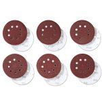 PRETEX 60 disques de ponçage pour ponceuse excentrique 8 trous, Ø 125 mm, 10 disques par chaque taille de grain 40/60 / 80/120 / 180/240   set de feuilles à poncer, set de disques de ponçage de la marque PRETEX image 3 produit