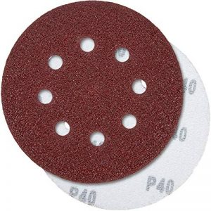 PRETEX 60 disques de ponçage pour ponceuse excentrique 8 trous, Ø 125 mm, 10 disques par chaque taille de grain 40/60 / 80/120 / 180/240   set de feuilles à poncer, set de disques de ponçage de la marque PRETEX image 0 produit