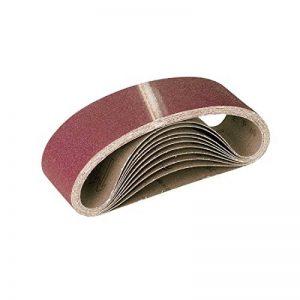 RETOL 10 bandes abrasives, 610 x 100 mm, G80, p. ponceuses à bande portatives, corindon normal de la marque RETOL image 0 produit