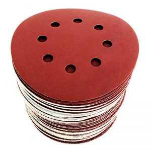 S&R Disque de Ponçage Papier Abrasif 125 mm - 60 Disques: 10 * P40, 10 * P60, 10 * P80, 10 * P120, 10 * P180, 10 * P240, 8 trous, pour poncer et polir avec ponceuses orbitale de la marque S-R image 0 produit