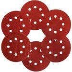 S&R Disque de Ponçage Papier Abrasif 125 mm - 60 Disques: 10 * P40, 10 * P60, 10 * P80, 10 * P120, 10 * P180, 10 * P240, 8 trous, pour poncer et polir avec ponceuses orbitale de la marque S-R image 4 produit