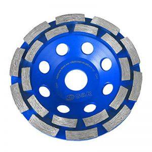 S&R Disque Diamant 125 à Meuler le Béton. Meule Abrasive à Poncer Béton, Pierre, Granit. 2 rangées diamantés. de la marque S-R image 0 produit