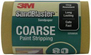 SandBlaster 3M 02580UK Rouleau de papier de verre Gros grain P80 115 mm x 2,5 m de la marque 3M image 0 produit