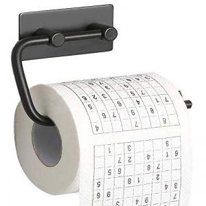 Sayayo-EG503M-B-Dévidoir de papier-toilette 3M adhésif en acier inoxydable noir mat de la marque SAYAYO image 0 produit