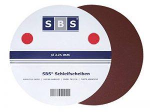 SBS Lot de 25 disques abrasifs en velcro, grain 180,Ø 225mm, pour ponceuse de la marque SBS-Schlößer-Baustoffe image 0 produit