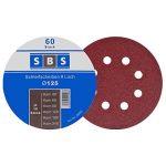 SBS Lot de 60 disques de ponçage à fixation en Nylonpour ponceuse excentrique Ø 125 mm Grain abrasif de 40/60/80/120/180/240 (10 disques par taille de grain) de la marque SBS image 3 produit