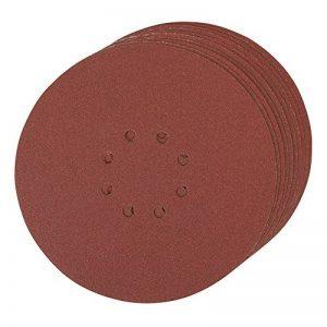 Silverline 273151 Lot de 10 Disques abrasifs perforés auto-agrippant 225mm Grain 120 de la marque Silverline image 0 produit