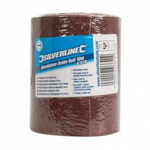 Silverline - 415650 - Rouleau d'abrasif corindon - Grain 60 - 115 mm x 10 m de la marque Silverline image 0 produit