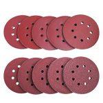 TACKLIFE Lot de 100 disques abrasifs Velcro pour ponceuse excentrique Ø 125 mm, 8 trous, 10 x 40/60/80/100/150/140/240/320/400/800 grain ASD1A de la marque TACKLIFE image 1 produit
