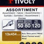 Tivoly - Lot de 24 bandes abrasives pour ponceuses électriques 13 x 454 mm - Compatible Black + Decker de la marque Tivoly image 1 produit