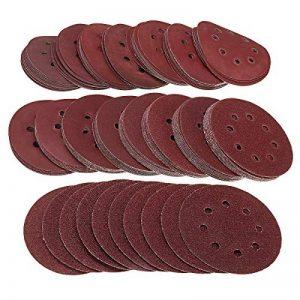 Topwa Lot de 160disques abrasifs 12,7cm 40–2000grains Crochet et boucle assortis 8trous Pour ponceuse Orbital (125mm) de la marque TOPWA image 0 produit